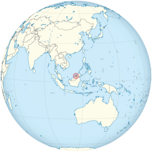 Brunei on the globe (Brunei centered).png
